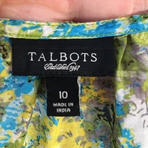 Talbots Tops - Talbots watercolor silk cotton wrap top 10